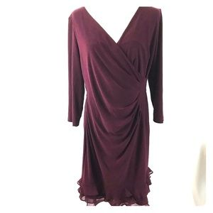 Wine shift dress (#178)